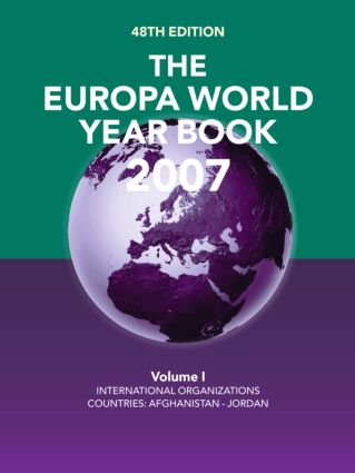 The Europa World Year Book 2007: 48th Edition (Hardback) book cover