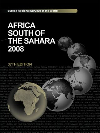 Africa South of the Sahara 2008 book cover