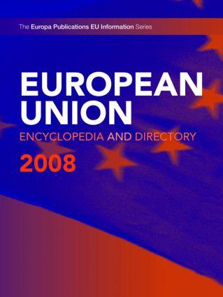 European Union Encyclopedia & Directory 2008 book cover