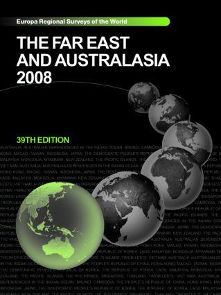 Far East and Australasia 2008: 39th Edition (Hardback) book cover