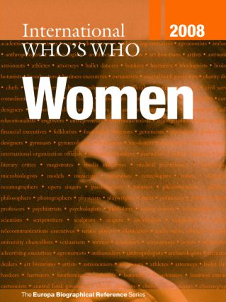 International Who's Who of Women 2008: 6th Edition (Hardback) book cover