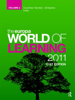 The Europa World of Learning 2007 Volume 2: 1st Edition (Hardback) book cover