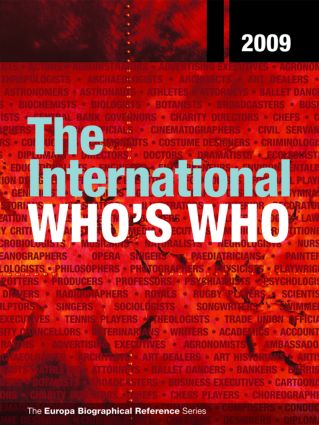 The International Who's Who 2009: 72nd Edition (Hardback) book cover