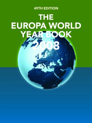 The Europa World Year Book 2008: 49th Edition (Hardback) book cover
