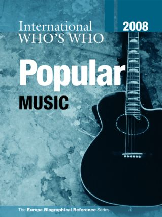 International Who's Who in Popular Music 2008 book cover