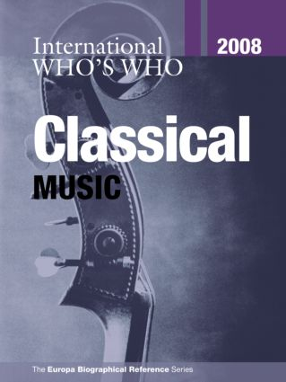 International Who's Who in Classical Music 2008 book cover
