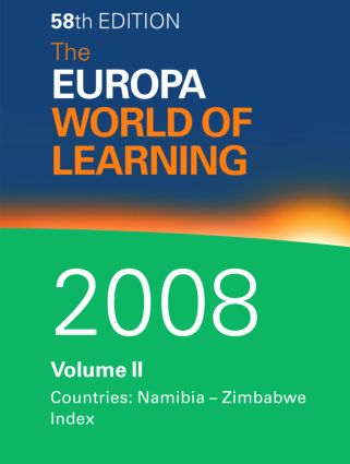The Europa World of Learning 2008 Volume 2: 1st Edition (Hardback) book cover