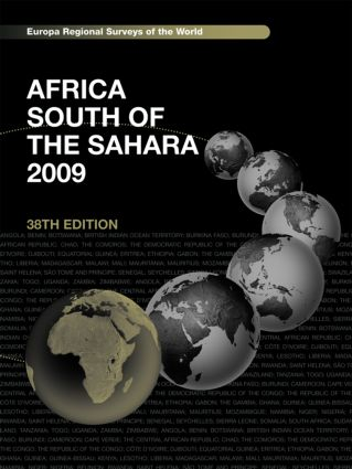 Africa South of the Sahara 2009: 38th Edition (Hardback) book cover