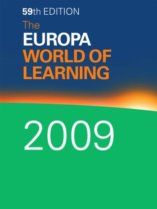 The Europa World of Learning 2009: 59th Edition (Hardback) book cover