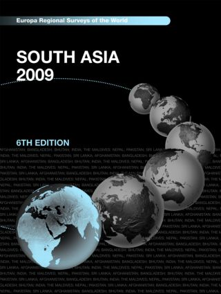 South Asia 2009: 6th Edition (Hardback) book cover