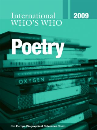 International Who's Who in Poetry 2009 book cover