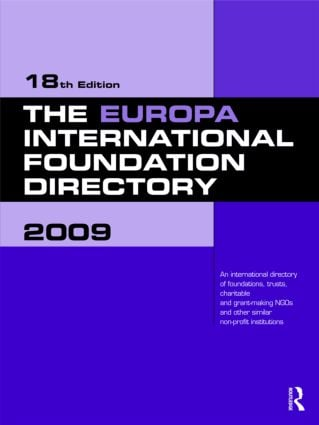The Europa International Foundation Directory 2009 book cover