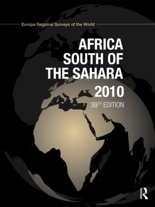 Africa South of the Sahara 2010: 39th Edition (Hardback) book cover