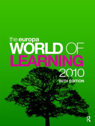 The Europa World of Learning 2010: 60th Edition (Hardback) book cover