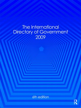 International Directory of Government 2009: 6th Edition (Hardback) book cover