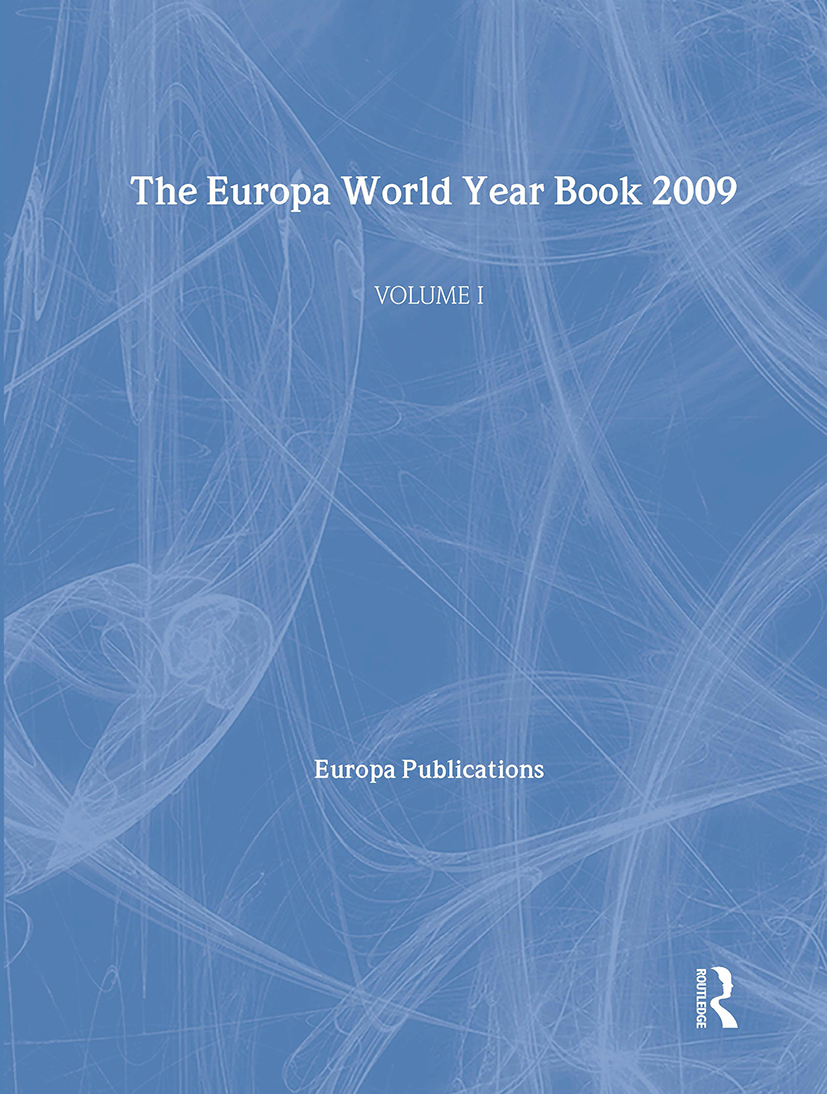 The Europa World Year Book 2009 - Volume 1: 1st Edition (Hardback) book cover