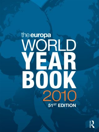 The Europa World Year Book 2010: 51st Edition (Hardback) book cover