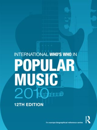The International Who's Who in Popular Music 2010 book cover