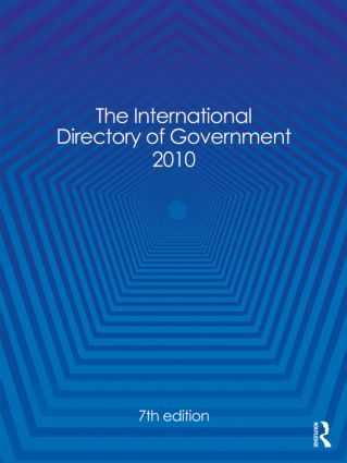 The International Directory of Government 2010: 7th Edition (Hardback) book cover
