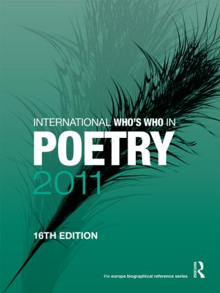 International Who's Who in Poetry 2011: 16th Edition (Hardback) book cover