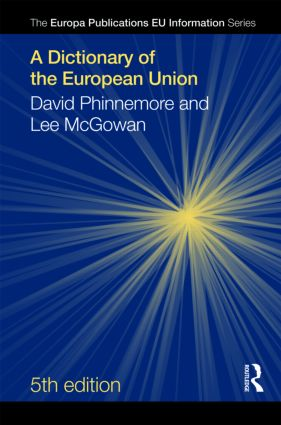 A Dictionary of the European Union: 5th Edition (Hardback) book cover