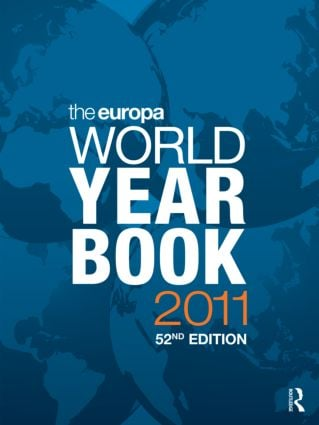 The Europa World Year Book 2011: 52nd Edition (Hardback) book cover