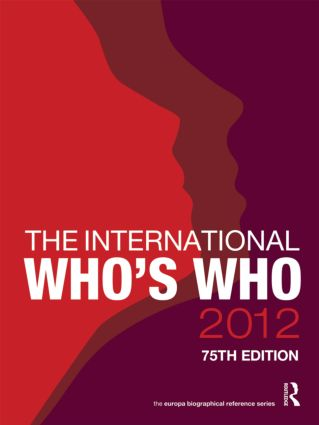The International Who's Who 2012: 75th Edition (Hardback) book cover