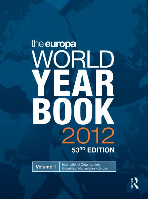 The Europa World Year Book 2012: 53rd Edition (Hardback) book cover