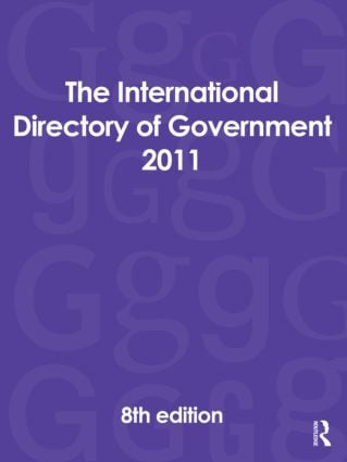 The International Directory of Government 2011: 8th Edition (Hardback) book cover
