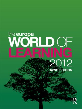 The Europa World of Learning 2012: 62nd Edition (Hardback) book cover