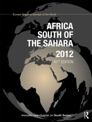 Africa South of the Sahara 2012: 41st Edition (Hardback) book cover