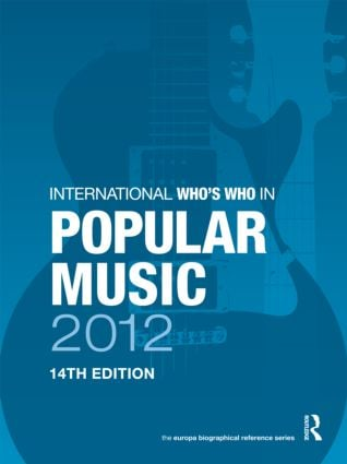 International Who's Who in Popular Music 2012 book cover