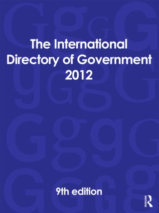 The International Directory of Government 2012: 9th Edition (Hardback) book cover