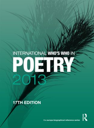 International Who's Who in Poetry 2013: 17th Edition (Hardback) book cover