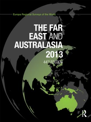 The Far East and Australasia 2013: 44th Edition (Hardback) book cover
