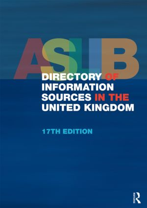ASLIB Directory of Information Sources in the United Kingdom: 17th Edition (Hardback) book cover