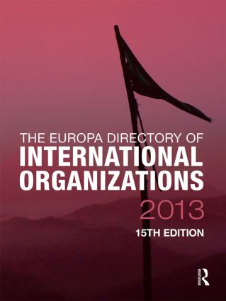 The Europa Directory of International Organizations 2013 book cover