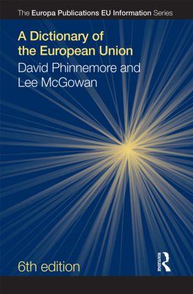 A Dictionary of the European Union: 6th Edition (e-Book) book cover
