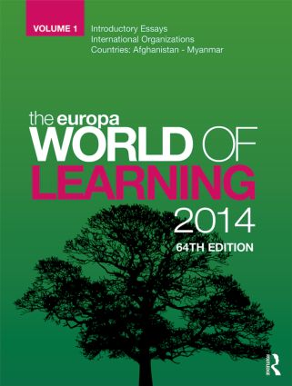The Europa World of Learning 2014 book cover