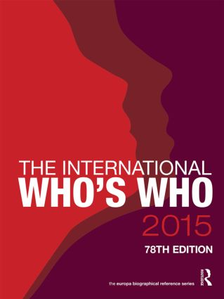 The International Who's Who 2015: 78th Edition (Hardback) book cover
