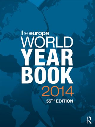 The Europa World Year Book 2014: 55th Edition (Hardback) book cover