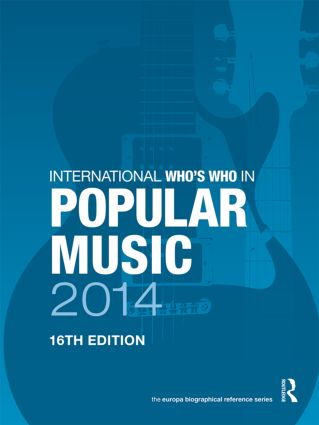 International Who's Who in Popular Music 2014 book cover