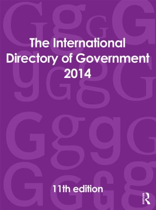 The International Directory of Government 2014: 11th Edition (Hardback) book cover