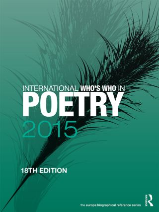 International Who's Who in Poetry 2015: 18th Edition (Hardback) book cover