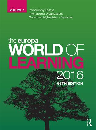The Europa World of Learning 2016 book cover