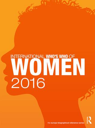 International Who's Who of Women 2016 book cover