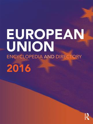European Union Encyclopedia and Directory 2016: 16th Edition (Hardback) book cover