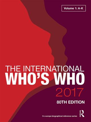 The International Who's Who 2017: 80th Edition (Hardback) book cover