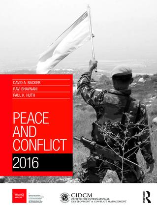Peace and Conflict 2016 (Hardback) book cover