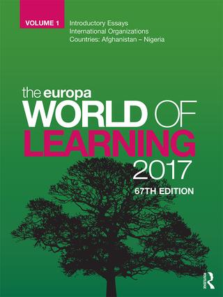 The Europa World of Learning 2017 book cover